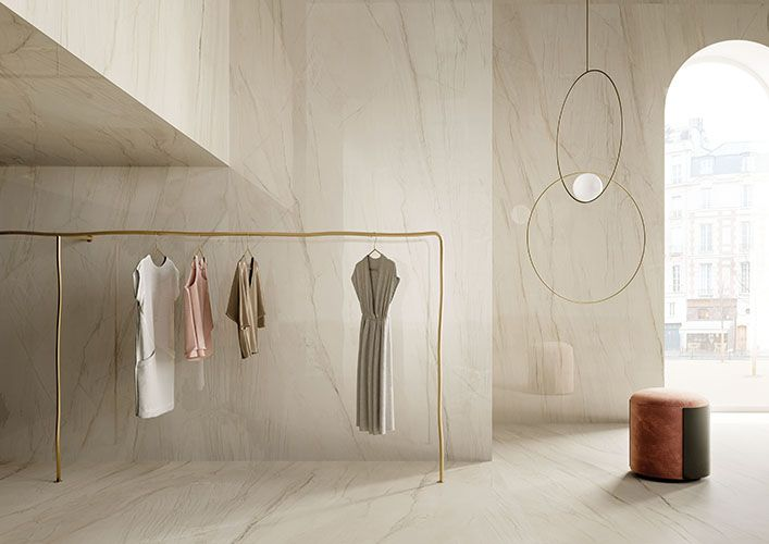 Dressing en marbre blanc