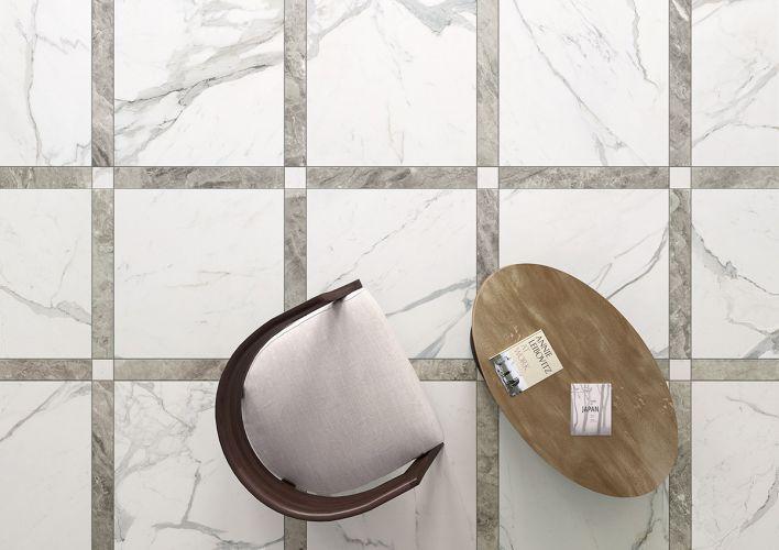 Salon sol en marbre blanc Dordogne