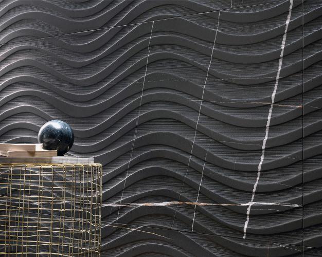 Salon mur en marbre noir Dordogne