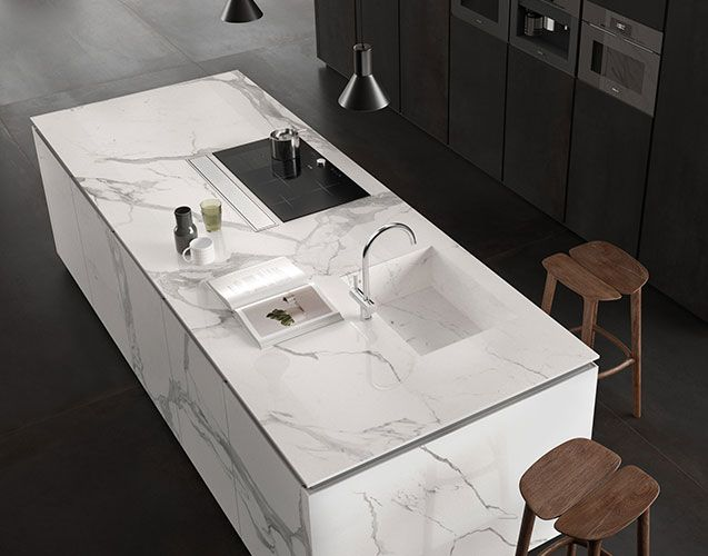 Cuisine marbre blanc Périgueux