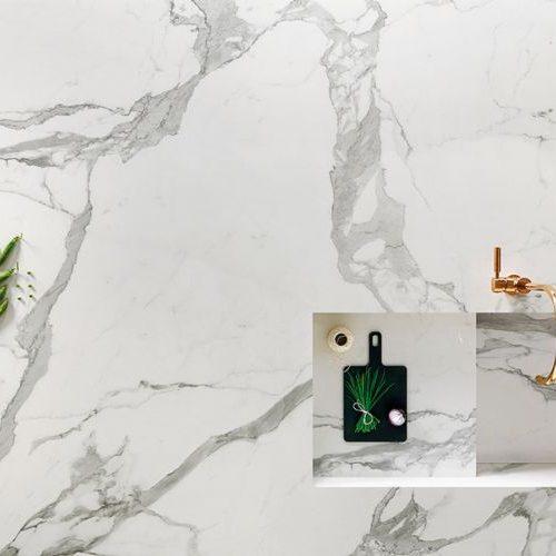 plan de travail en marbre blanc Périgueux